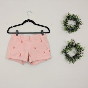 J. Crew | Chino Blush Pink Sailboat Shorts 00